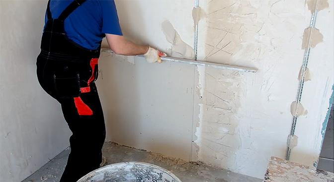 Стоимость оштукатуривание стен цементным раствором купить бетон в рощино с доставкой цена
